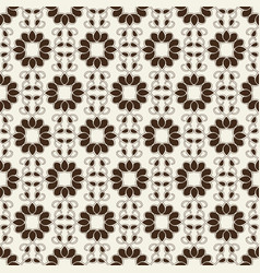 Monochrome seamless geometrical ornament vector