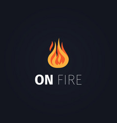 On fire flame logo template vector