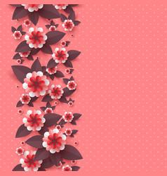 paper cut decorative flowers vector image