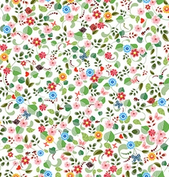 pretty seamless texture with tiny flowers vector image vector image