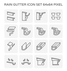 Rain gutter icon vector