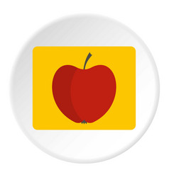 Red apple icon circle vector