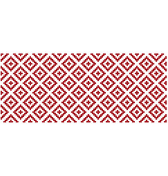 Red tribal ethnic aztec style vector