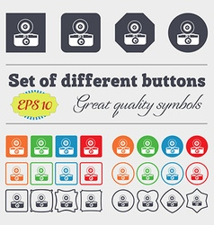 retro photo camera icon sign Big set of colorful vector image