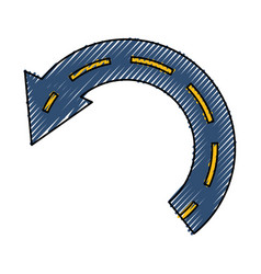 return arrow symbol vector image