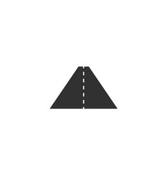 road icon way symbol stock isolated on white vector image