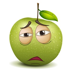 Sad apple smiley vector