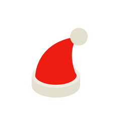 santa hat isometric object vector image