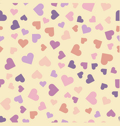 seamless pattern with multi-colored hearts vector image