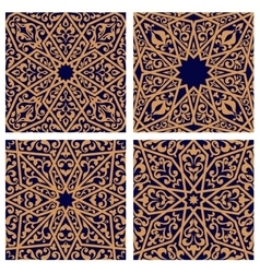 Seamless patterns of arabic ornament vector