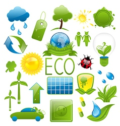 Set of green ecology icons 2 vector image