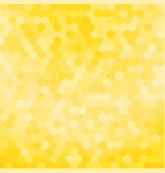 simple yellow hexagon background vector image