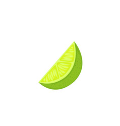 slice lime isolated on white background vector image