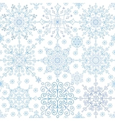 Snowflakes lace seamless patternChristmasNew vector image