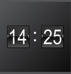 Split-flap flip counter - retro scoreboard vector