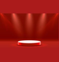 Stage podium with lighting stage podium scene vector