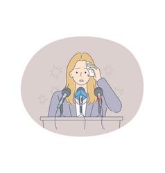 Stress mental disorder fear public speaking vector