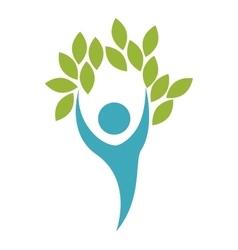 symbol healthy person design vector image