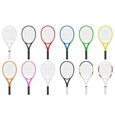 Tennis rackets set vector