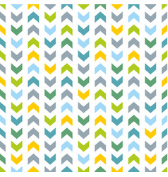 tile pattern with blue and green zig zag print vector image