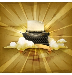 Typewriter old style background vector