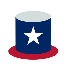 usa hat flat design icon vector image