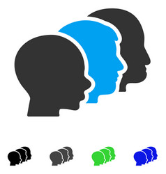 User group flat icon vector
