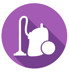 vacuum cleaner with long shadow vector image