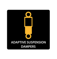 warning dashboard car icon adaptive suspension vector image