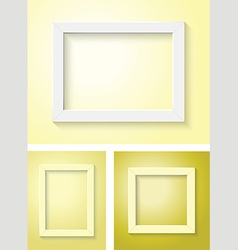 white and yellow frame set vector image