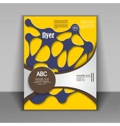 abstract brochure design vector image vector image