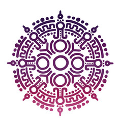 colorful ancient mexican mythology symbol vector image