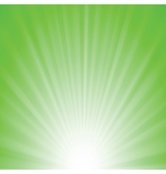 green rays background vector image vector image