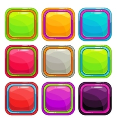 Rounded square app icons vector image vector image