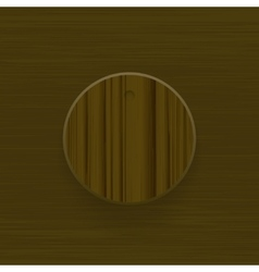 Wood technology music button volume knob with vector