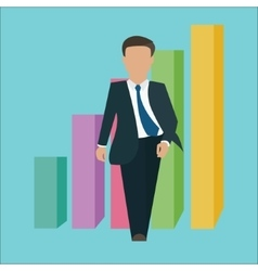 Business man walking standing confident confidence vector