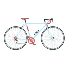 Classic town road bicycle detailed vector image