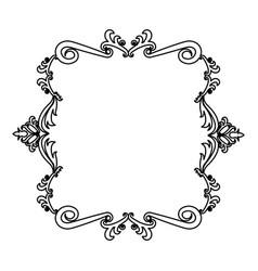 decorative frame floral border crest royal element vector image vector image