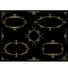 decorative ornate frames vector image