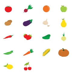 Fruits and vegetable vector image vector image
