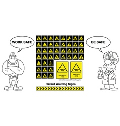 Hazard Warning signs vector image