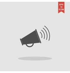 Megaphone icon Flat design style vector image
