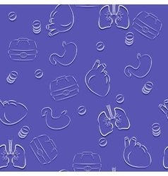 Seamless pattern on a theme medicine White vector image