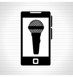 smartphone microphone speaker vector image vector image