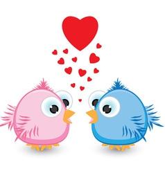 sparrows in love vector image vector image