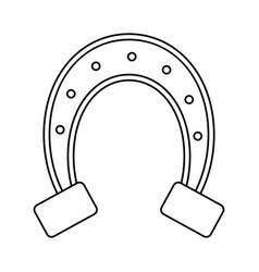 st patricks day horseshoe symbol thin line vector image vector image