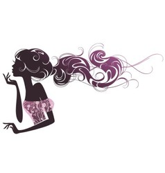 Abstract portrait of a beautiful girl vector image vector image