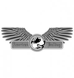 american bulldog logo vector image vector image