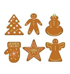 Christmas gingerbread vector image