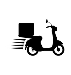contour fast food delivery icon vector image